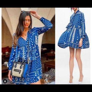 ❤️❤️ZARA SHORT PATCHWORK PRINT DRESS PLEATED